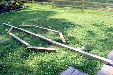 lay out plan for hammock | hammock stand DIY
