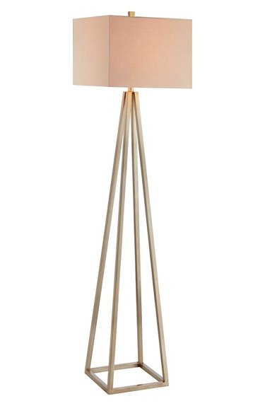 Open Caged Metal Floor Lamp