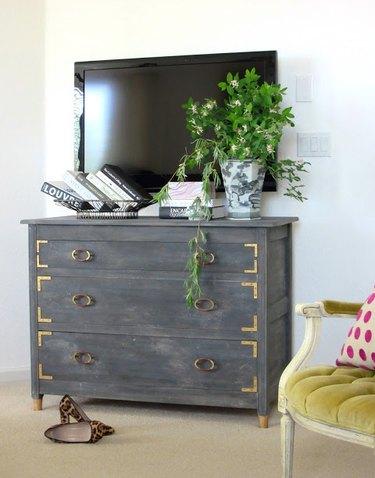 DIY weathered dresser