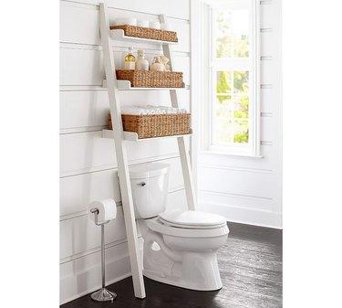 pottery barn toilet shelf