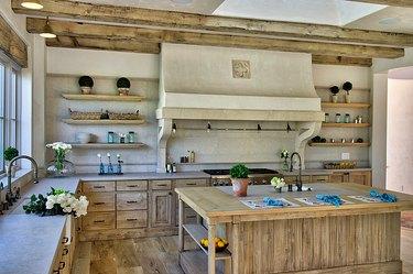 natural materials italian kitchen