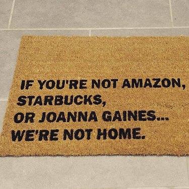 silly doormat