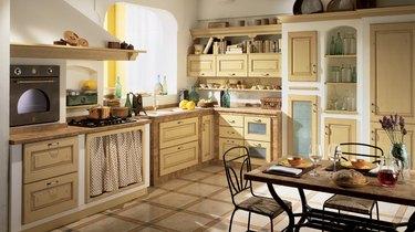 Mediterranean sea inspired kitchen
