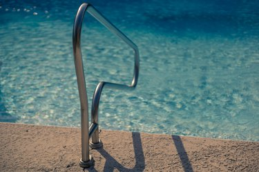 Pool water often contains iron.
