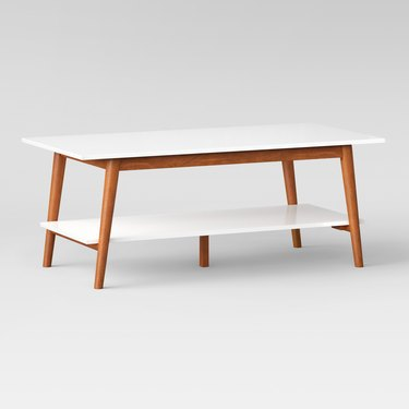 Target two-tone coffee table midcentury