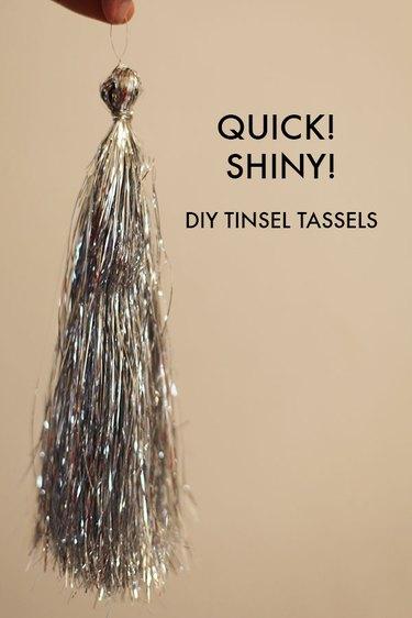 diy tinsel tassel