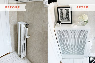 before and after radiator cover