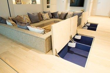 YO! company modern small space decor storage solutions hidden floor storage