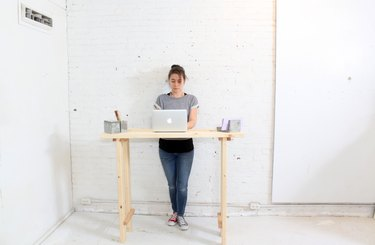 An extremely low profile standing desk