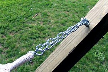 attach fabric hammock and enjoy! | hammock stand DIY
