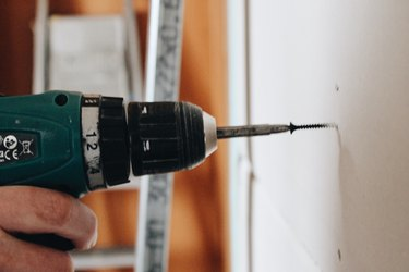 drilling into plaster walls