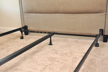 Headboard and bed frame.