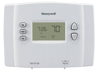 A programmable thermostat.