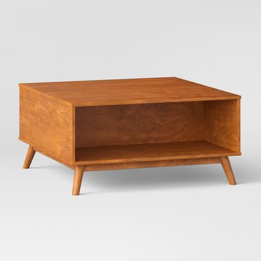 midcentury coffee table deep drawer