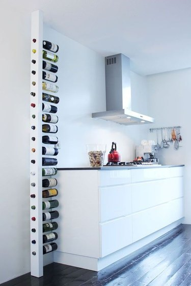 wine storage in small kitchen