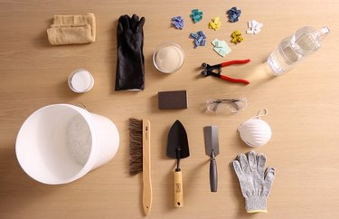 Materials and tools for terrazzo table