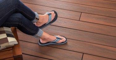 Composite deck surface.