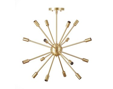 Burst midcentury chandelier