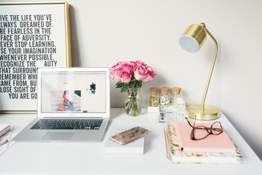 workspace with laptop