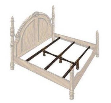 Diagram of metal bed slat kit.
