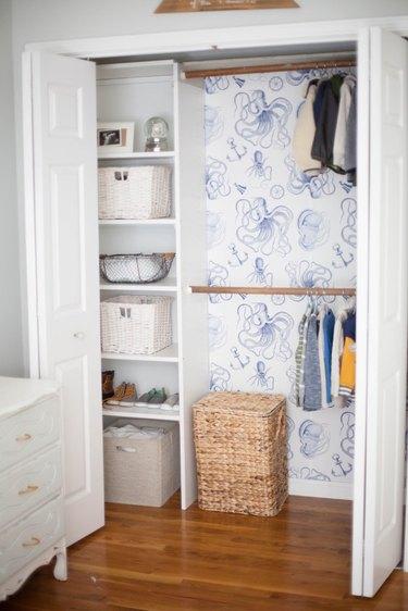 Peel and Stick Wallpaper Closet Interior