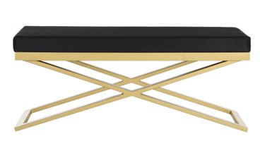 Safavieh Acra Black and Gold Bench