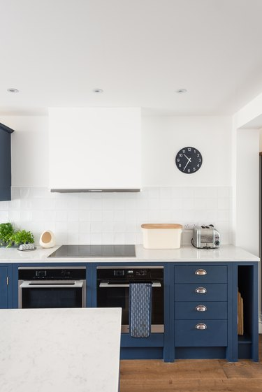 kitchen cabinets and appliances clock