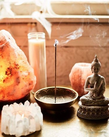 incense and candles