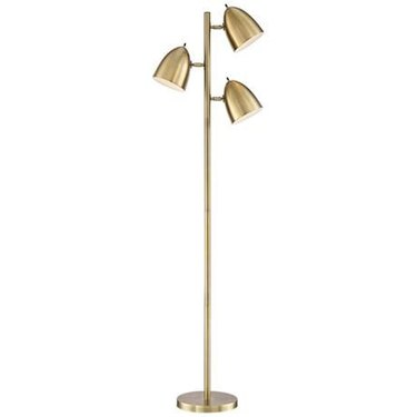 Aged Brass 3-Light Floor Lamp