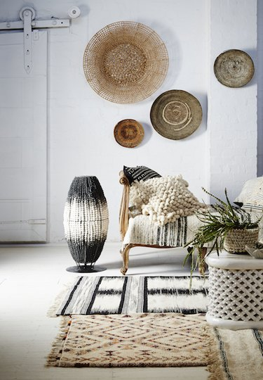 textural accents in living room