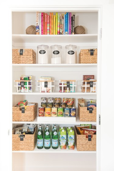 How to Organize a Pantry with categorized shelf space