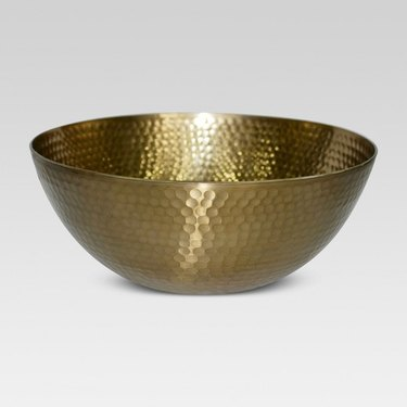 Hammered brass decorative bowl