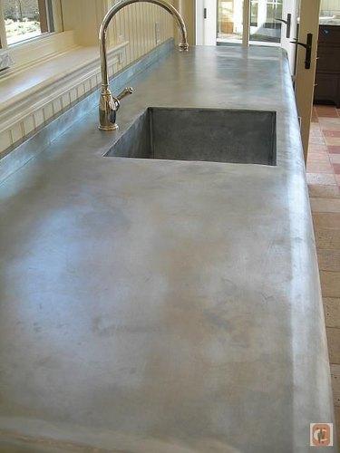 zinc countertop