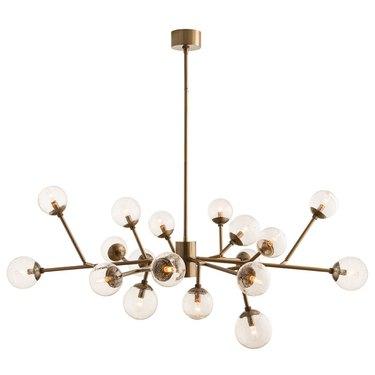 Brass modern chandelier