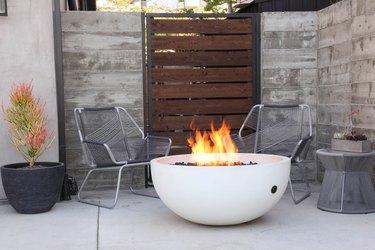 Concrete Wave Design hardscape firepit