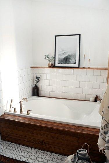 Brepurposed 'modern vintage' bathroom renovation