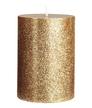 h&m giltter candle