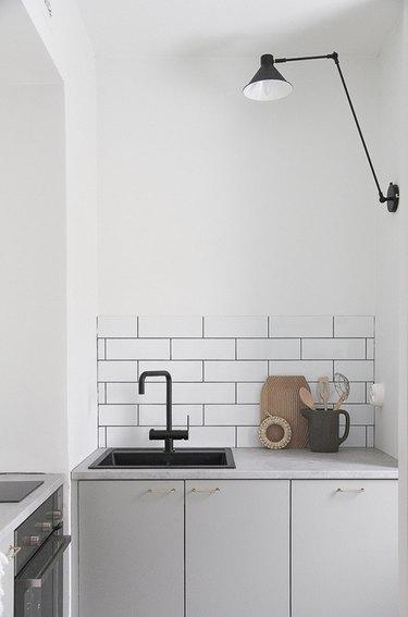 swing arm wall lamp kitchen