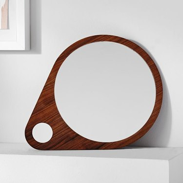 West Elm circular mirror.