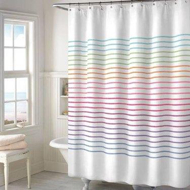 Color Stitch Shower Curtain