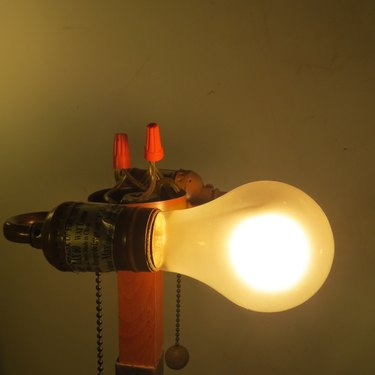 Lamp being tested.