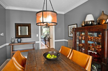 Incorporate warmer tones within a room to help brighten the space