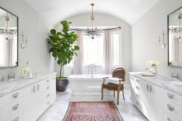 burnham designs beverly hills neutral toned bathroom paint job