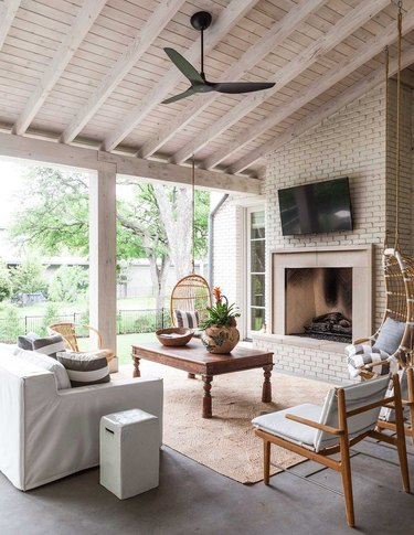 creative ways to cover your patio barn roof style natural wood