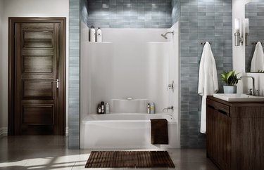 Aker by Maax Alcove TS Series One-Piece Tub Shower