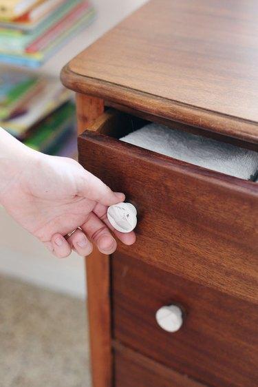 diy marble drawer knobs