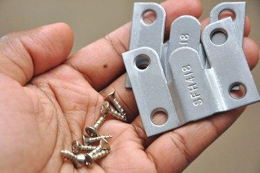 Metal mounting brackets.