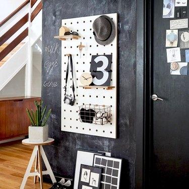 modern small space decorating ideas kreisdesign pegboard