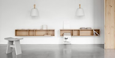 wall-mounted bookcase