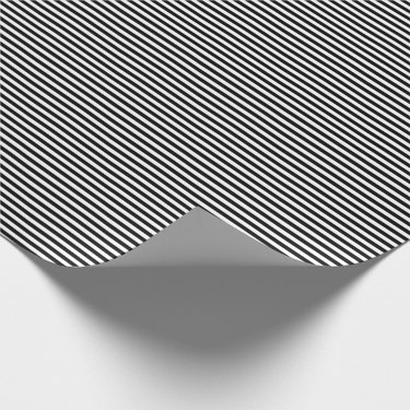 Thin black and white striped wrapping paper